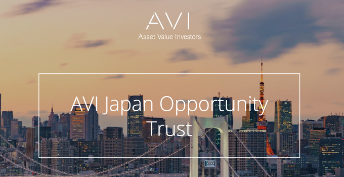 AVI Japan Opportunity Trust : AJOT invests in undervalued cash-rich and over-capitalised smaller Japanese companies (Small Caps)